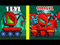 Car Eats Car 3 - Max Level HUBERT. Excavator vs All Bosses (Police, Tin, Submarina, Snowblower)