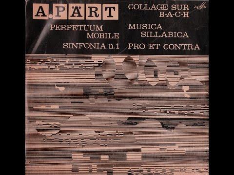 Arvo Pärt - Sinfonia N.1 (FULL ALBUM, modern / avant-garde, 1969, Estonia, USSR)