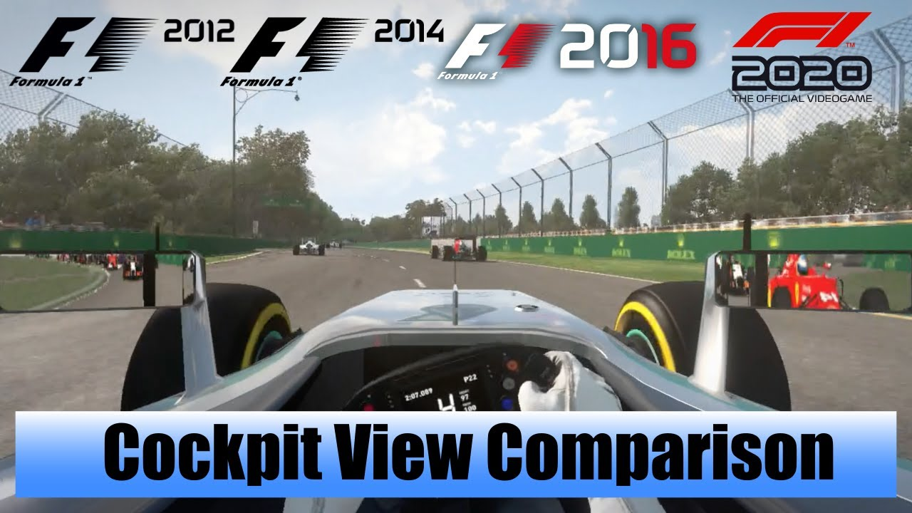 F1 Game Cockpit View Comparison 2012 To 2020 Cockpit View Gameplay Evolution Codemasters Formula 1 Youtube