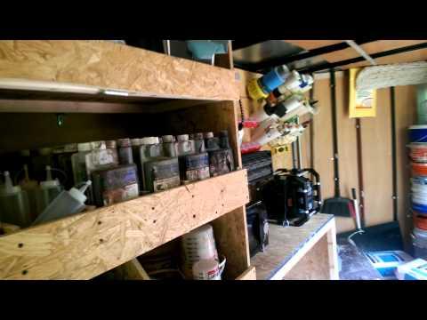 Tour of My Enclosed Trailer Set-up for Decorative Concrete Lake Ozark MO