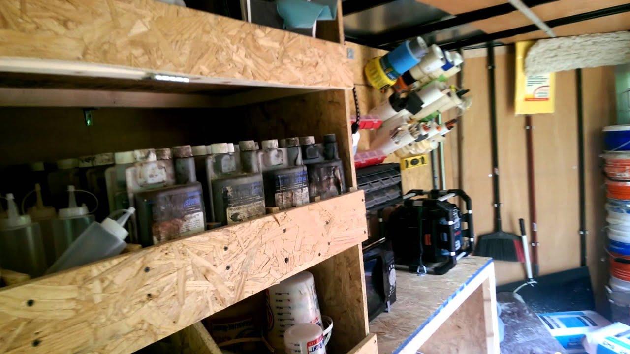 Tour Of My Enclosed Trailer Set Up For Decorative Concrete
