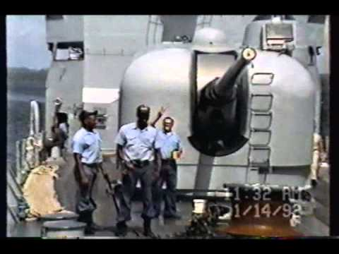 USS Trippe FF 1075 part3 Panama Canal and Noriega