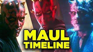 MAUL New Timeline! Clone Wars Season 7 & Missing History Explained!