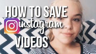 How to Save Instagram Videos to your Camera Roll! // Maddi Paige