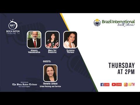 Brazil International talk show, with Renata Urban