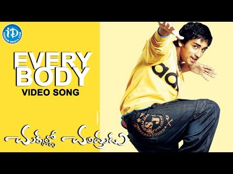 Chukkallo Chandrudu Movie - Everybody Song | Siddharth | Sadha | Saloni | Charmme Kaur | Chakri