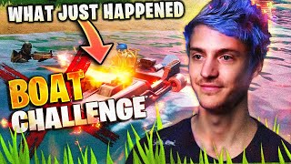 FORTNITE BOAT CHALLENGE *GONE WRONG!*