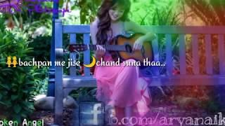 sad love whatsapp status...hum royenge itna hume malum nhi tha...heart touching song