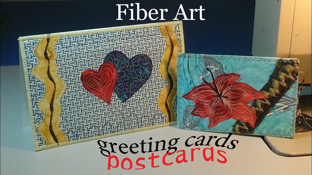 Fabric postcards greeting cards use what you have zazus fabric postcards greeting cards use what you have zazus stitch art tutorials m4hsunfo