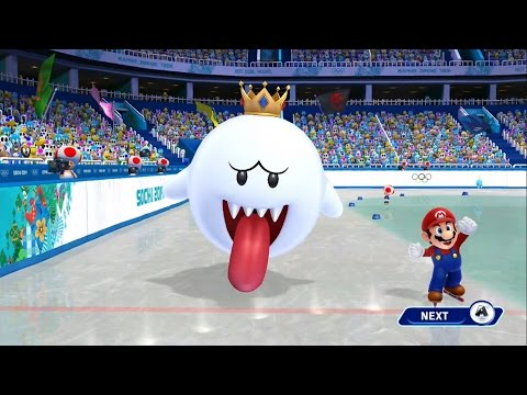 Mario and Sonic at the Sochi 2014 Olympic Winter Games - Legends Showdown Gameplay Event 4 (Wii U)