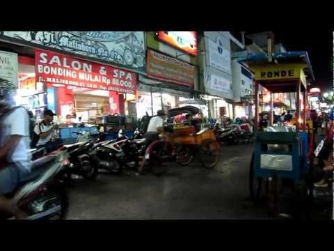 Jalan Malioboro in Yogyakarta / Java / Indonesia
