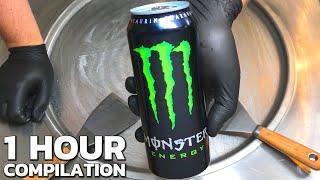 ASMR - Drinks & Beverages | Ice Cream Rolls Compilation - Monster, Fanta, Coca Cola, Pepsi, Red Bull
