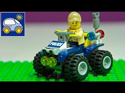 Конструктор Лего Сити Полиция Lego City Police. Распаковка лего машины патрульный вездеход. Катронка