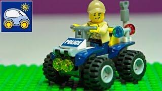 Конструктор Лего Сити Полиция Lego City Police. Распаковка лего машины патрульный вездеход. Катронка(Жизнь в Лего Сити бьет ключом: полиция ловит преступников, укрощает змей и находит клады. А помогает ей в..., 2015-08-12T05:41:26.000Z)