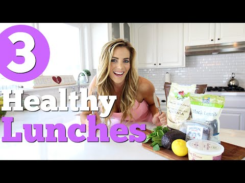 3 Quick & Healthy Lunch Ideas! Quinoa Lentil Bowl, Chicken Salad Wrap, Avocado Chicken Salad
