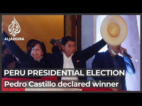 Castillo named president-elect in Peru, Fujimori concedes