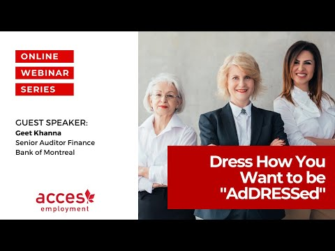 "Career Skills Workshop - DRESS How You Want to be ""AdDRESSed"""
