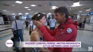 Hazatért Lengyel Ferenc miután megmászta a 7134 méter magas Lenin-csúcsot