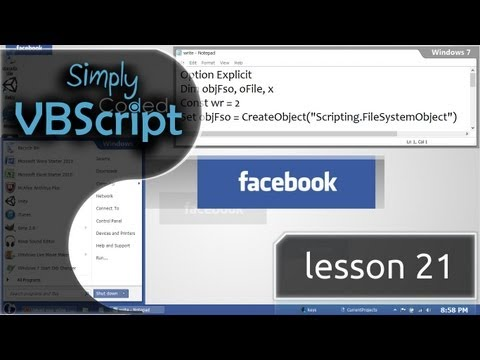 VBScript Basics, Part 21 | Write Files (OpenTextFile)
