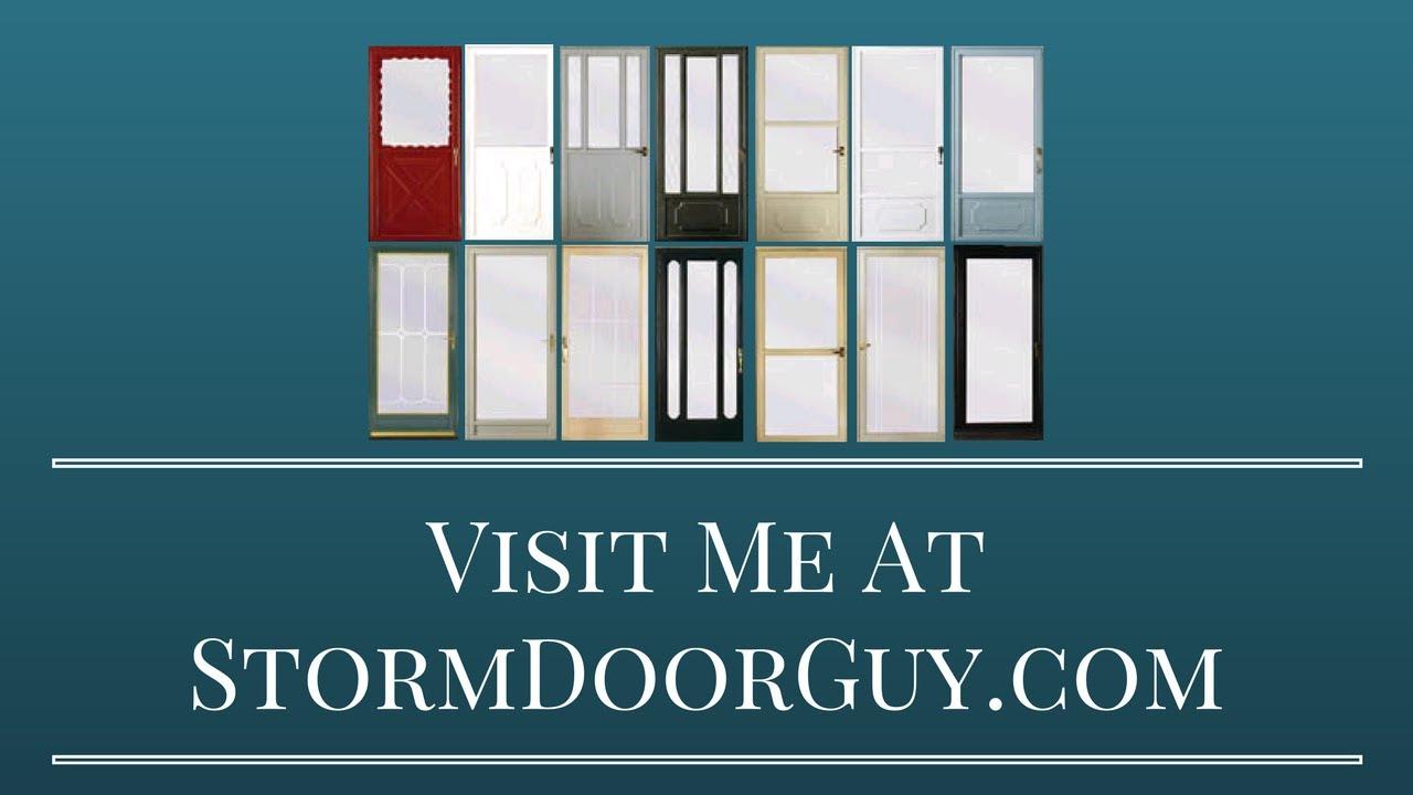 Stormdoorguy How To Disassemble A Storm Door Handle Youtube