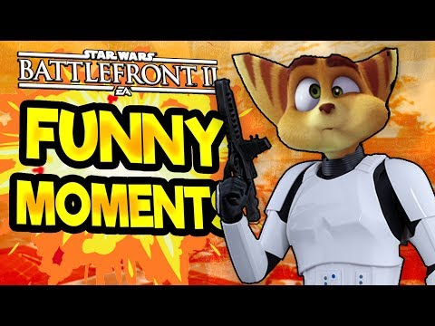 Star Wars Battlefront 2 Funny Moments Montage FUNTAGE #24  Ratchet And Clank Special!