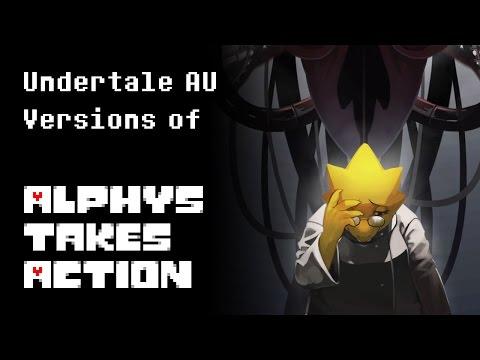 Undertale AU Versions of Alphys Takes Action