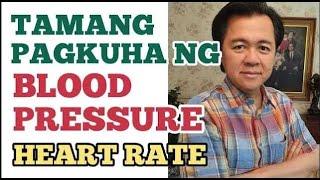 Pagkuha ng Blood Pressure, Heart Rate, Respiratory Rate