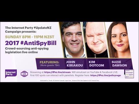 CIA whistleblower John Kiriakou, Kim Dotcom & Suzie Dawson - 2nd #AntiSpyBill event
