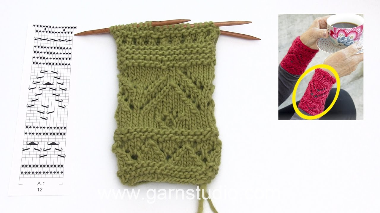 How to knit wrist warmers with lace pattern in drops extra 0 1337 how to knit wrist warmers with lace pattern in drops extra 0 1337 bankloansurffo Image collections