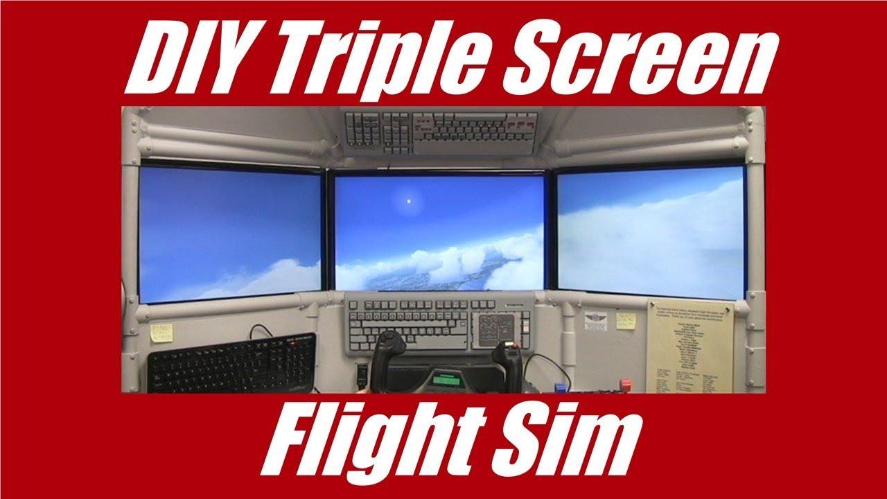 DIY Triple Screen Flight Sim    you can build it!