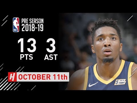 Donovan Mitchell Highlights Jazz vs Kings - 2018.10.11 - 13 Pts, 3 Assists!
