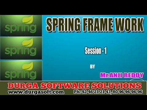 Java Frame work || Spring Session - 1