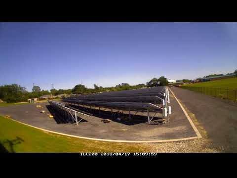 UL Lafayette 1.1 MW Solar Plant Construction