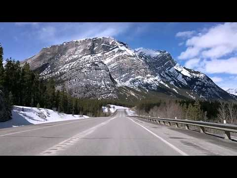 David Thompson Highway 11, Alberta Time Lapse Drive