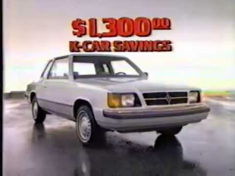 Dodge Aries K Ad From 1986 Youtube