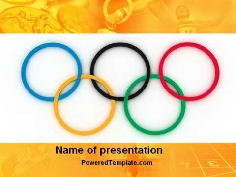 Olympic games rings powerpoint template by poweredtemplate olympic games rings powerpoint template by poweredtemplate toneelgroepblik Image collections