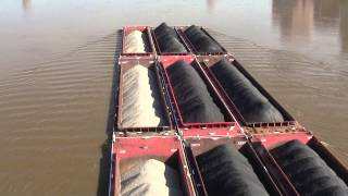 River barge with clean coal load
