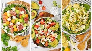 3 Fresh Summer Salads   No Cook Recipes + Healthy + Easy