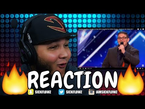 Christian Guardino: Humble 16-Year-Old Is Awarded the Golden Buzzer REACTION!!