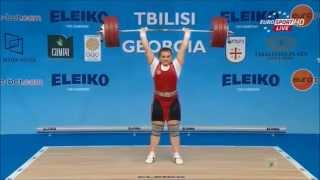 2015 European Weightlifting, Women`s Gold Clean & Jerks