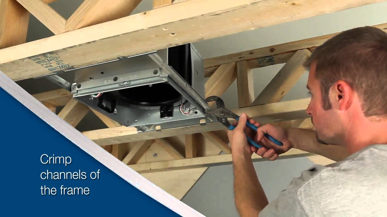 broan ultragreen series ventilation fan installation video for new construction [ 1280 x 720 Pixel ]