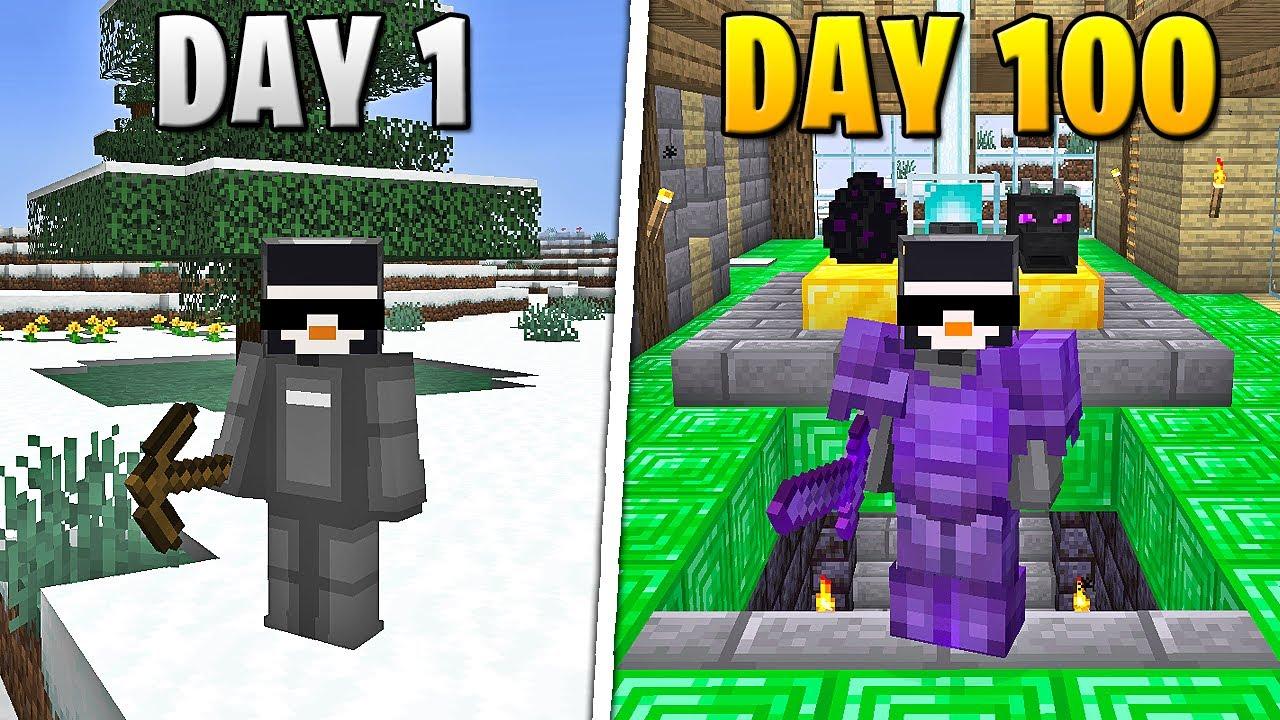 Download I Survived 100 Days in HARDCORE Minecraft...