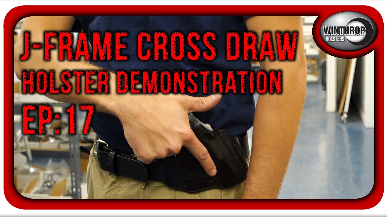 Winthrop Holsters J-Frame Revolver Cross Draw Leather Holster