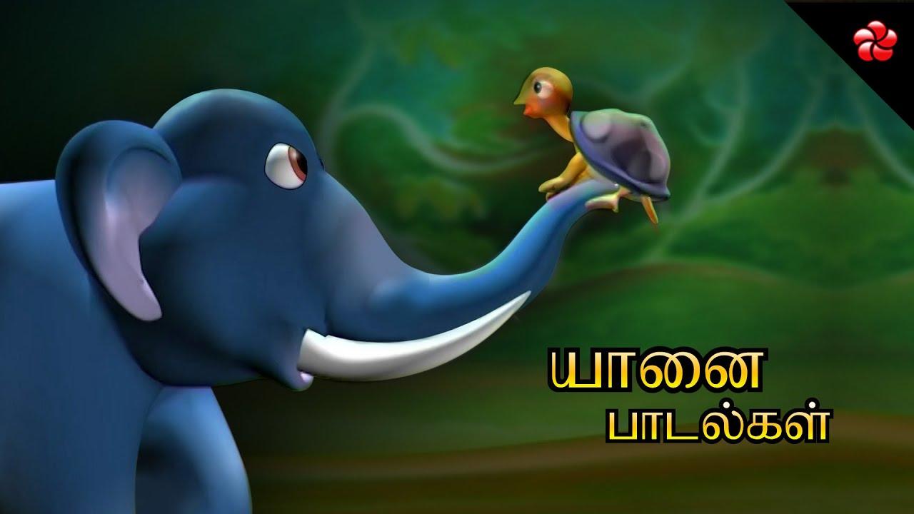 யானை பாடல்கள் ★ Tamil Elephant cartoon songs and nursery rhymes for kids from Pattampoochi