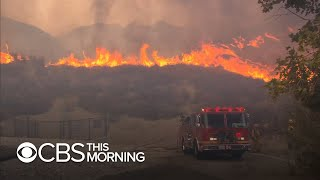 Wildfires rage across California, forcing evacuations