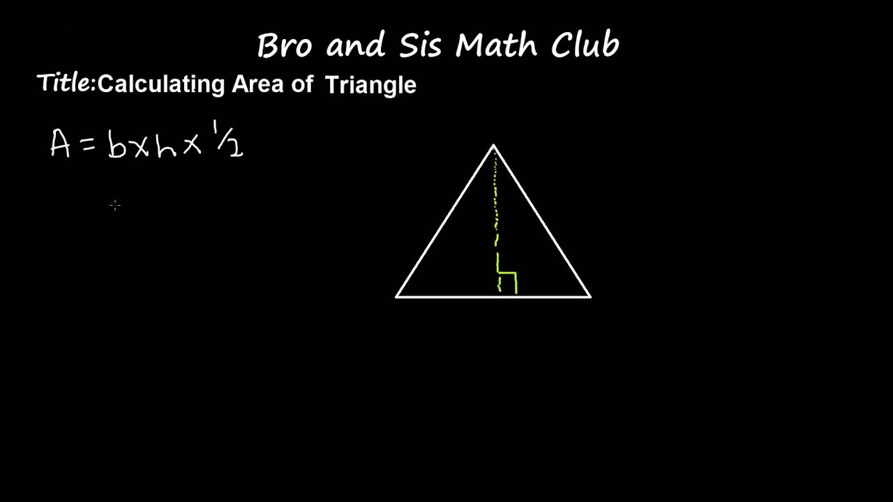 6th Grade Math Calculating Area Of Triangle