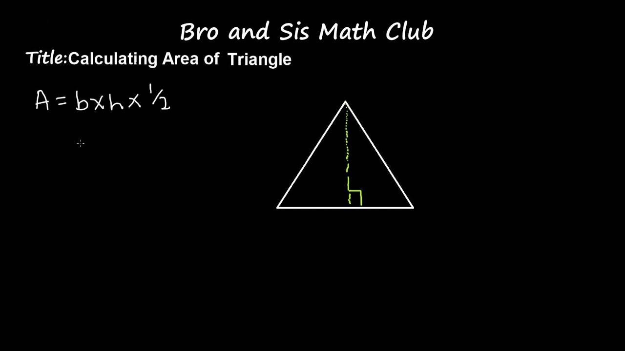 Area of a triangle formula 6th grade