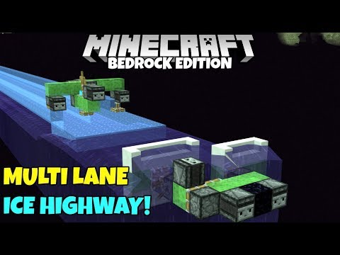 Download Minecraft Bedrock Easy Frosted Ice Highway Tutorial