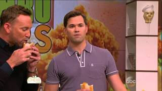 Andrew Rannells interview part3 - gay sex scenes on GIRLS - with clinton kelly - the chew (tv show)
