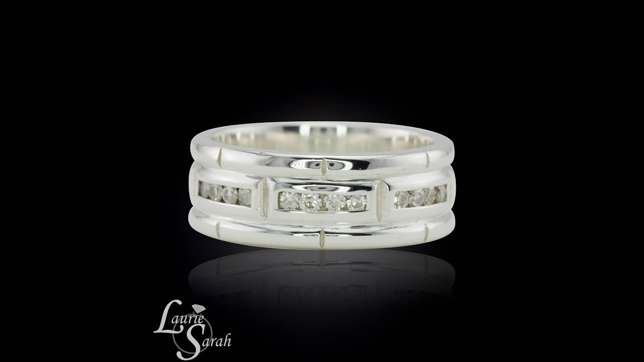 white wedding channel set anniversary in curved bands diamond band gold tw